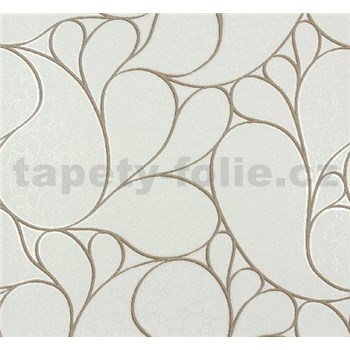 Vliesové tapety na stenu Messina - kašmírový vzor hnedý