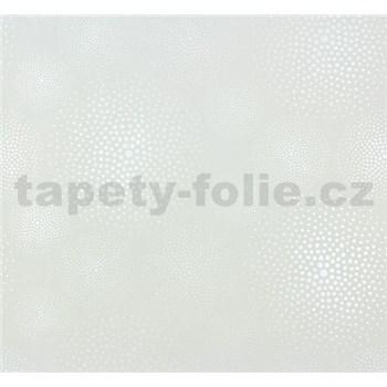 Vliesové tapety na stenu Messina kolieska perleťovo biele