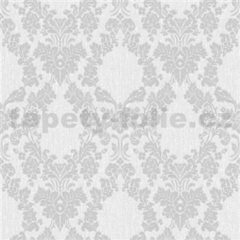 Vliesové tapety na stenu Mixing ornamenty sivé na bielom podklade - POSLEDNÉ KUSY