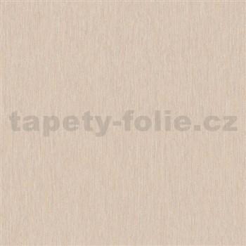 Vliesové tapety na stenu Mixing štruktúrované prúžky capuccino s trblietkami