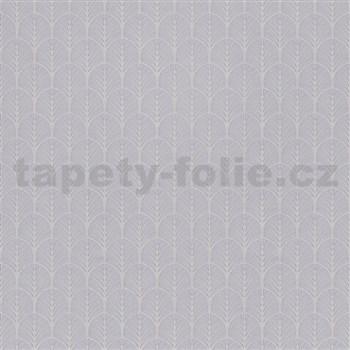 Vliesové tapety na stenu My Raid stromčekový vzor sivo-hnedý