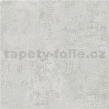 Vliesové tapety na stenu Nabucco štruktúrovaná omietka svetlo sivá a strieborná