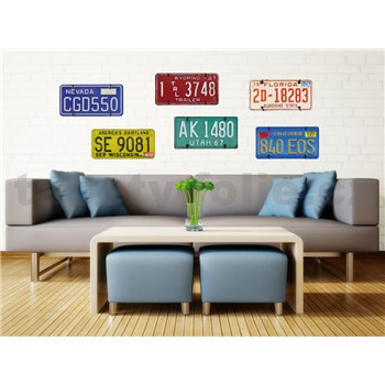 Samolepky na stenu Plate Numbers 50 cm x 70 cm