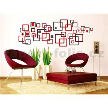 Samolepky na stenu Red Squares 50 cm x 70 cm