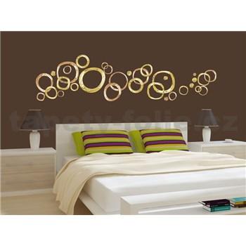 Samolepky na stenu Golden Rings 50 cm x 70 cm