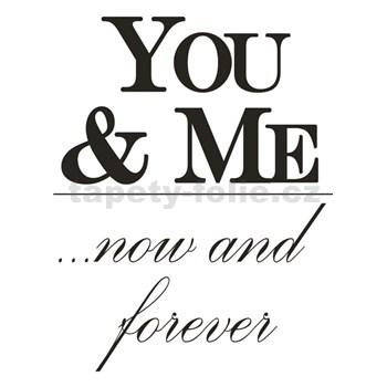 Samolepky na stenu - You and Me 45 x 65 cm