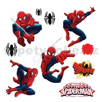 Samolepky na stenu detské - Spiderman 30 x 40 cm