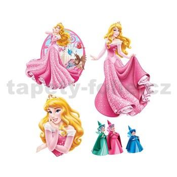 Samolepky na stenu detské - princezná Šípková Ruženka 30 x 40 cm
