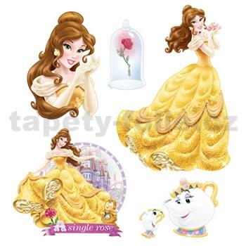 Samolepky na stenu detské - princezná Bella 30 x 40 cm