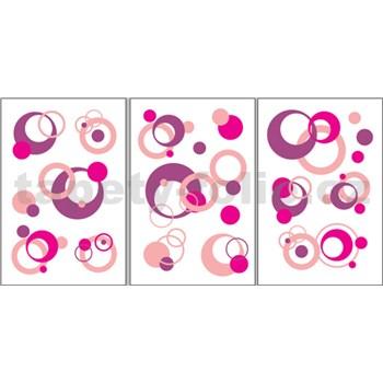 Samolepky na stenu - bubliny ružové