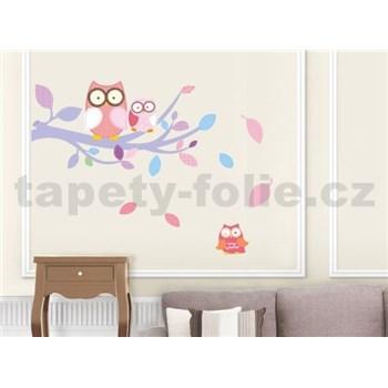 Samolepky na stenu sovy ružové