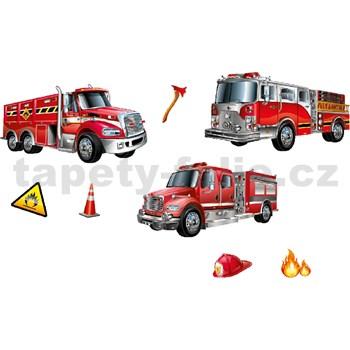 3D samolepky hasičské vozidlá, 41 x 29 cm