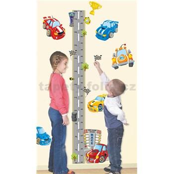 Samolepiaci meter na stenu s autami do výšky 175 cm