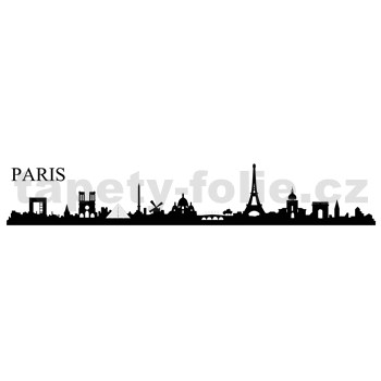 Samolepky na stenu Paríž 195 x 45 cm