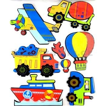 3D samolepiaca detská dekorácia, stavebné stroje, 41 x 29 cm
