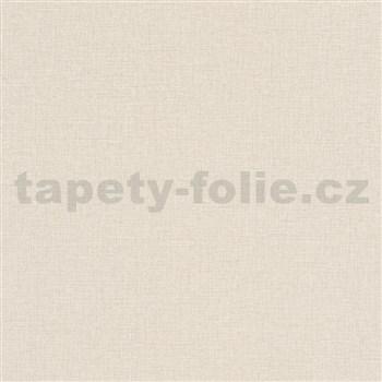 Vliesové tapety na stenu Natalia textilná štruktúra béžová
