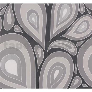 Vliesové tapety NENA kvapky hnedo-čierne
