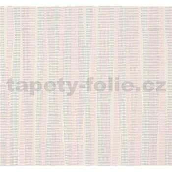 Vliesové tapety NENA abstrakt tyrkysovo-ružový