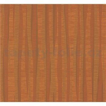 Vliesové tapety NENA abstrakt tehlovo oranžový