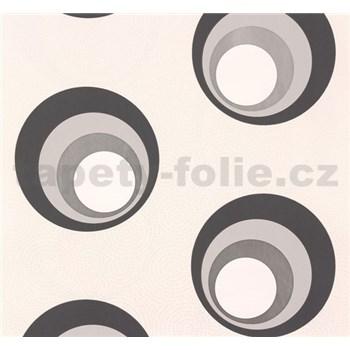 Vliesové tapety NENA moderné bubliny sivo-strieborné