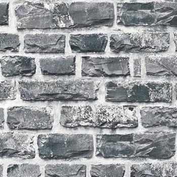 Vliesové tapety na stenu NEUE BUDE 2.0 tehlová stena sivá