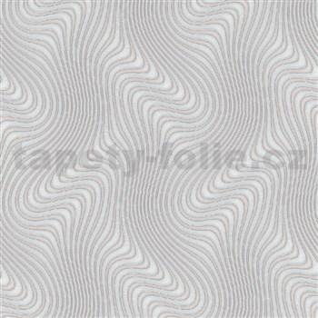 Vliesové tapety na stenu IMPOL New 21 3D vzor sivý na bežovom podklade