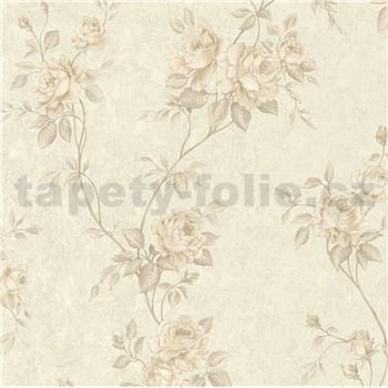 Vliesové tapety IMPOL Romantico popínavé ruže hnedé