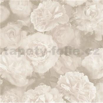 Vliesové tapety IMPOL New Studio kvetinový vzor bielo-sivý