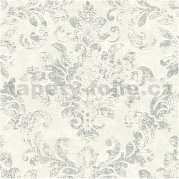 Vliesové tapety IMPOL New Studio barokový vzor krémovo-strieborný