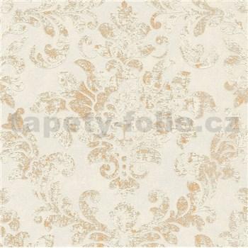 Vliesové tapety IMPOL New Studio barokový vzor béžovo-zlatý