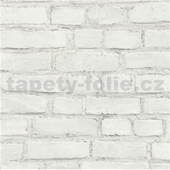 Vliesové tapety IMPOL New Studio tehla bielo-sivá