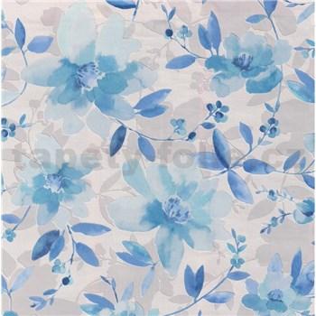 Vliesové tapety na stenu Allure kvety modré