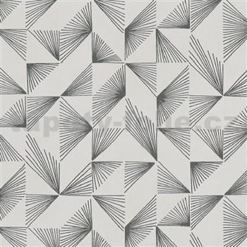 Vliesové tapety na stenu New Modern lúčový vzor sivý