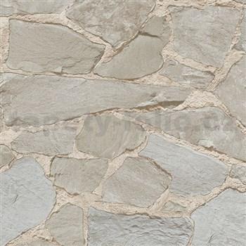 Vliesové tapety na stenu Belinda kamene hnedo-sivé svetlé