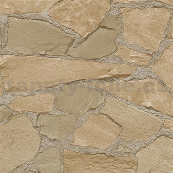 Vliesové tapety na stenu Belinda kamene hnedé