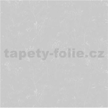 Vliesové tapety na stenu Daphne stonky lesklé strieborno-sivé na sivom podklade