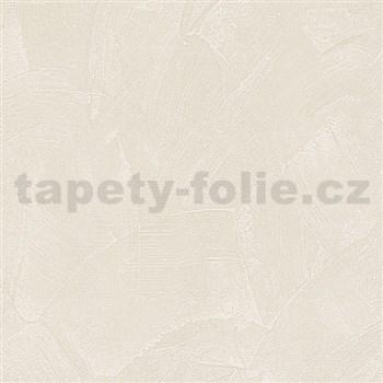 Vliesové tapety na stenu Belinda stierkovaná omietka krémová