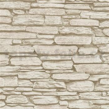 Vliesové tapety na stenu Belinda kameň ukladaný hnedý