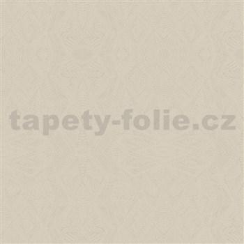 Vliesové tapety na stenu Belinda geometrické ornamenty svetlo hnedé