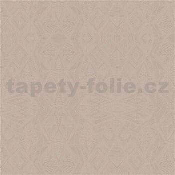 Vliesové tapety na stenu Belinda geometrické ornamenty hnedé