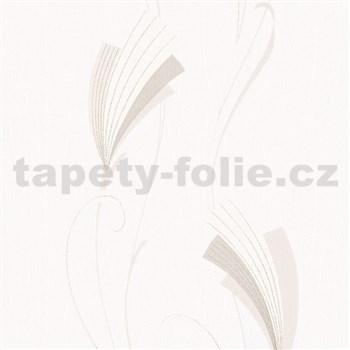 Vliesové tapety na stenu Chelsea moderný kvet hnedý s trblietkami