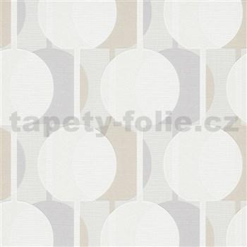 Vliesové tapety na stenu IMPOL Novara 3 korálkový vzor vzor sivo-béžový s trblietkami