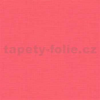 Vliesové tapety na stenu IMPOL Novara 3 štruktúrované jednofarebné melounově červené