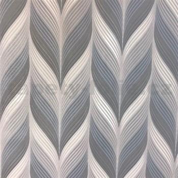 Vliesové tapety na stenu Einfach Schoner 3 retro vzor modro, sivo, biely - POSLEDNÉ KUSY