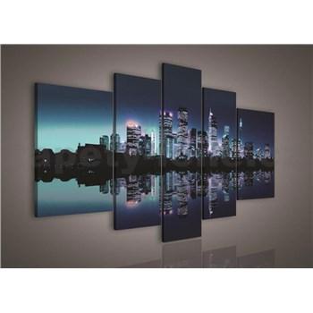 Obraz na plátne nočné veľkomesto 170 x 100 cm