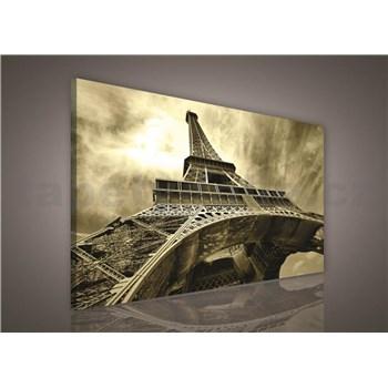Obraz na stenu Eiffelova veža v sépia 75 x 100 cm