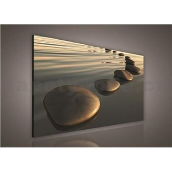 Obraz na stenu kamene na piesočnatej pláži 75 x 100 cm