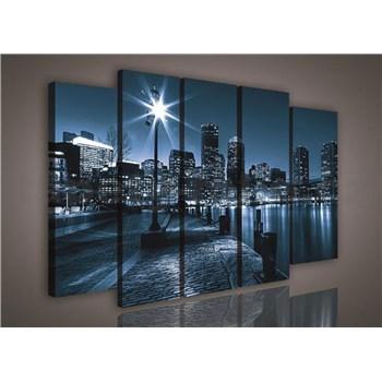 Obraz na plátne mestskej nábreží 150 x 100 cm