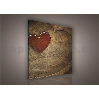 Obraz na stenu srdca 80 x 80 cm