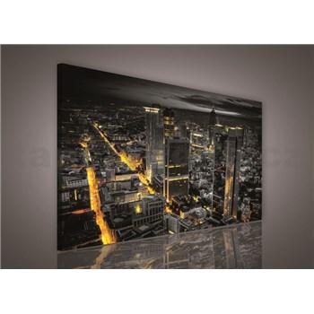 Obraz na stenu Frankfurt v noci 75 x 100 cm